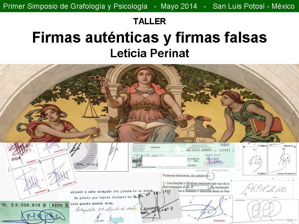 2 FIRMAS AUTÉNTICAS FIRMAS FALSAS